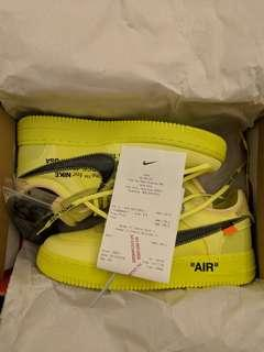 """Nike x Offwhite Airforce 1 low """"Yellow"""""""