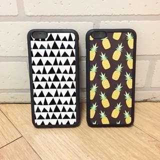 :::OH YEAH!:::『免運優惠中』泰國設計手機殼 iPhone6 Plus殼止滑邊框 黑白幾何點點繽紛鳳梨民族風