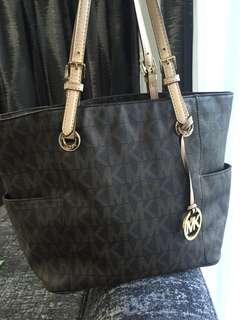 Michael Kors Handbag Leather Trim Authentic
