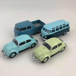 Greenlight VW bus and beetle lot