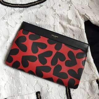 YSL Saint Laurent Big Hearts Clutch