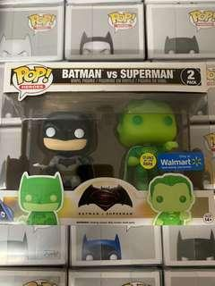 Funko pop glow in the dark Batman vs Superman
