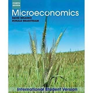 Microeconomics by David Besanko and Ronald Braeutigam, International 4th Edition, Wiley