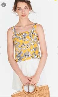 BNWT The closet lover TCL Marigold Gloral printed Top in Yellow