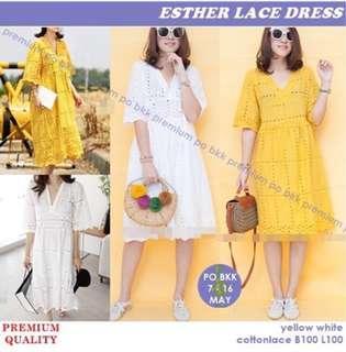 Dress kuning jala