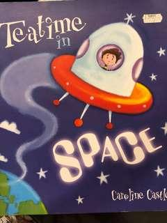 兒童英文書 Tea time in space