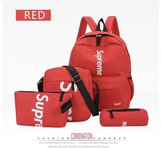 Supreme school bag backpack set of 4 pcs