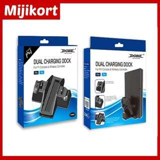 PS4 Dobe Dual Charging Dock For Ps4 PRO Console & Wireless Controller