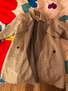 🚚 手工羊毛撞色大衣