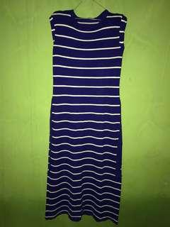 dress stripe blue