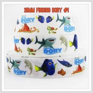 25mm Finding Dory Ribbons Nemo