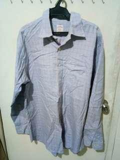 blue checkered londsleeves