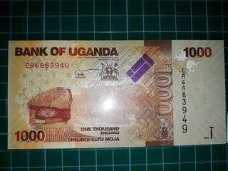 [Africa] Uganda 1000 Shilling Paper Note (2017 Series)