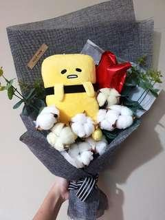 gudetama sushi cotton flower bouquet