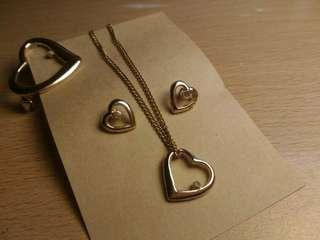 Heart Gold Plated Jewelry