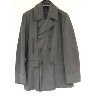 GU男性灰色大衣全新$800