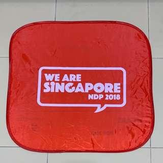 Singapore NDP placard visor
