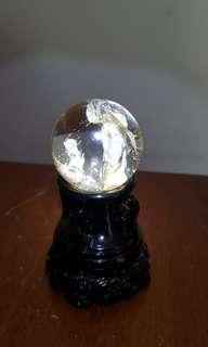 Clear quartz, crystal in crystal(晶中晶球)