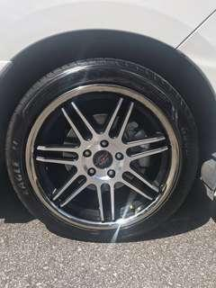 Used 18 inch rims with tyres fits estima, CHR, vezel