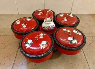 Chinese New Year Vintage Rotatable Goodies Tray / Box