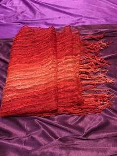 Red See-Thru Scarf