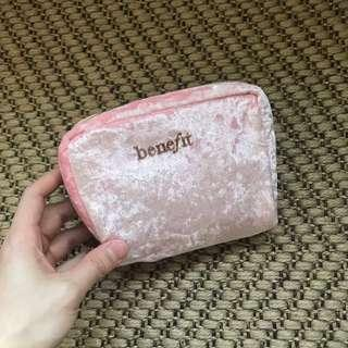 Fluffy pink make up pouch