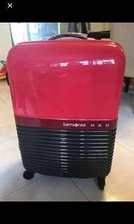 "Samsonite Luggage Robo red / pink (brand new) 24"" plus a free Samsonite Red small bag"