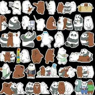 [instock] we bare bears stickers