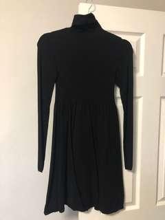 Zara knit black dress