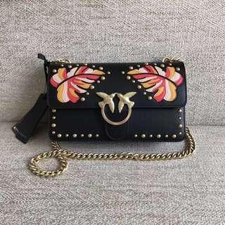 Pinko Love Foglia Intarsio Sling Bag / Crossbody