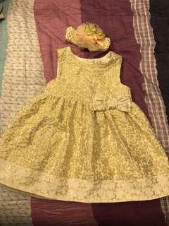 [Preloved] (3M-6M) Mothercare Dress + Hairband