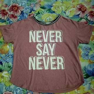 Never give up crop top