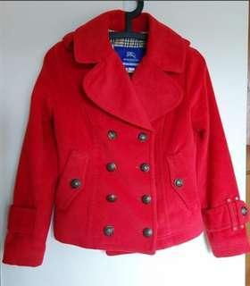 BURBERRY藍標紅色外套