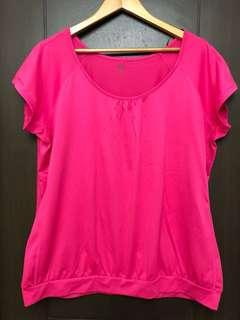 H&M pink short sleeves exercise yoga top