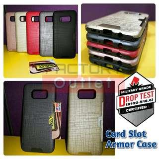 Anti-Shock Card Slot pocket Fashionable Armor Hybrid Case.