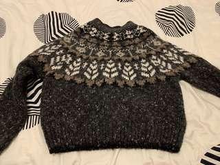 Kimchi Blue crop mock neck sweater