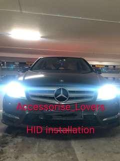 Mercedes C180 drop by for headlight hid installation     Suitable for Nissan Toyota Vios Altis Camry Volkswagen scirocco Jetta Golf Passat Mercedes c200 c180 Honda Civic Crossroad