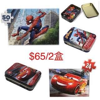 鐵盒裝拼圖$65/2盒