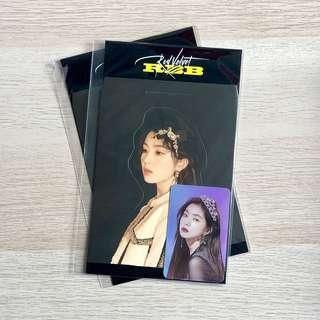 OFFICIAL Red Velvet RV Really Bad Boy RBB SM SUM Pop Up PopUp Store Goods Standee + Hologram / Holographic Photo Card Photocard Set Irene Member Version