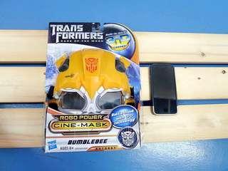BNIB Transformers DOTM Bumblebee 3D Cine Mask Helmet Glasses Hasbro Toy