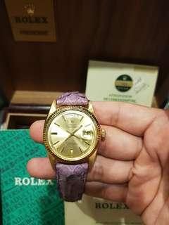 100% Rare Authentic Rolex 1803 Spanish Daydate (president) 18k watch with Cert and Double box cheap promotion