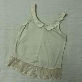 Peter Pan collar tank top