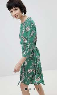 NWT New Look Floral Midi Shift Dress