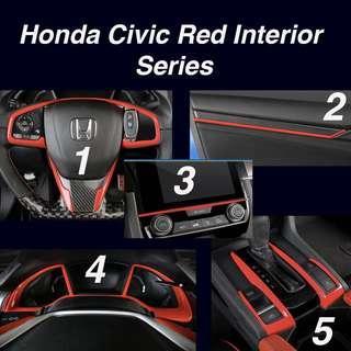Honda Civic Red Interior Series