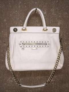 Guess Off-White Chain Sling Bag