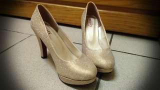 🚚 金蔥 金粉 高跟鞋 35