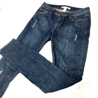 """Life in Progress"" Jeans ( Dark Blue)"