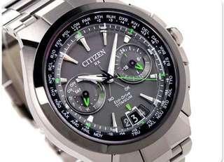 全新citizen 星辰GPS鈦合金光動能手錶
