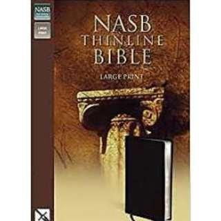 NASB Thinline Large Black Bible