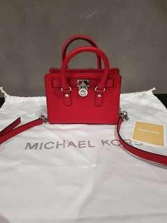 Michael Kors Mini Hamilton Bag in Red